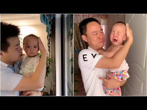 Babies react dramatically after being tricked by parents.