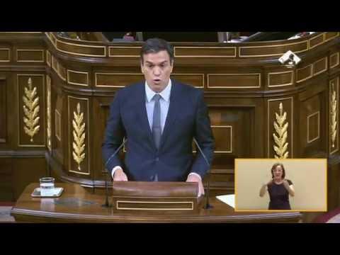 Intervención de Pedro Sánchez en el Debate de Investidura de Rajoy