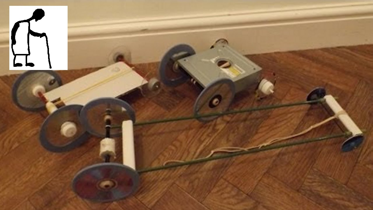 how to build a self propelled car with rubber bands