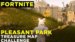 Follow the treasure map found in Pleasant Park - Fortnite Challenge Location Guide [Season 4]