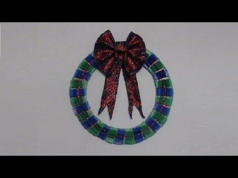 DIY: Paper Wreath with a Denim Bow
