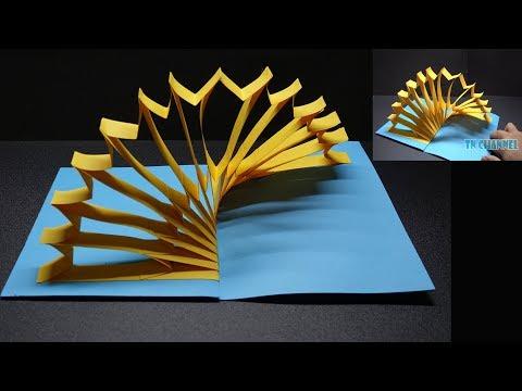 DIY 3D Pop up Card - Handmade 3D Cardboard Pop-Up Ornaments - Amazing Tutorial