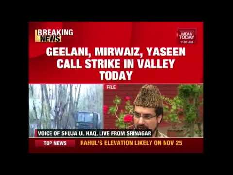 Geelani, Mirwaiz And Yaseen Call Strike In The Valley Over Terrorists' Killing