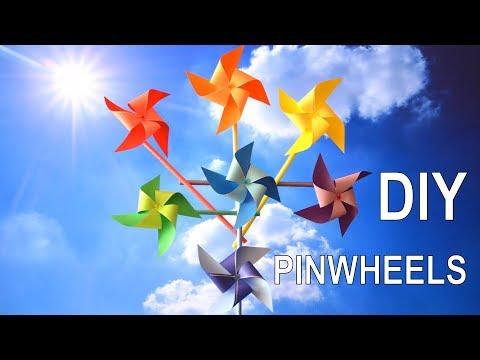 How to Make Rainbow Pinwheels 💕 Paper Craft 💡 DIY Fun Toys for Babies, Kids & Children