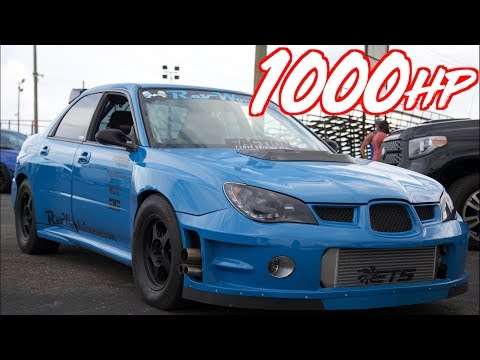 1000HP Subaru Launch On The Street And Drag Racing! - Most Reliable Subaru's We've Seen!
