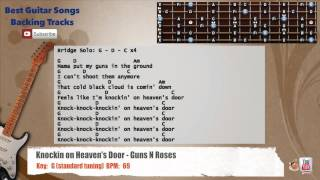 🎸  Knocking on Heaven's Door - Guns N'Roses Guitar Backing Track with vocal, chords and lyrics
