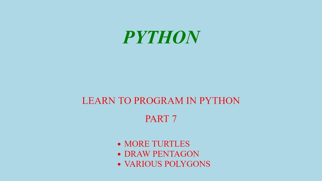 PYTHON - THE TURTLE IS MAKING POLYGONS - Приколы видео