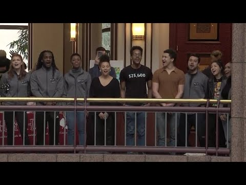 Gavin - The Cast Of 'Rent' Has A Flash Mob Performance In Hartford