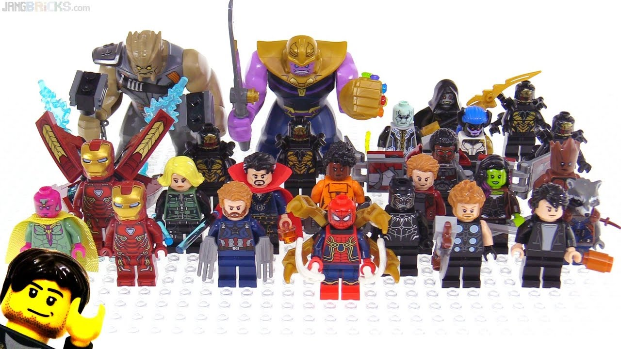 Lego avengers infinity war figures collection so far