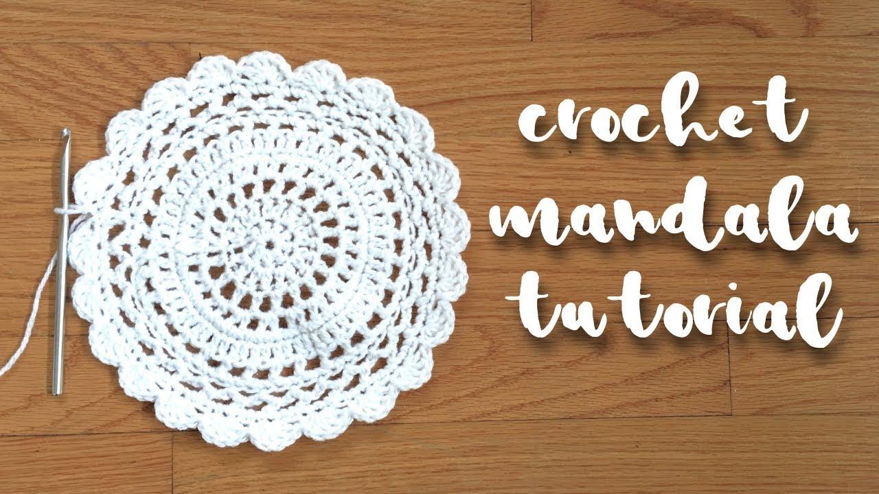 Crochet Mandala Tutorial Crochet Circle Pattern Youtube