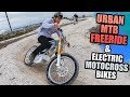URBAN MTB FREERIDE AND ELECTRIC MOTOCROSS BIKES IN SWEDEN!
