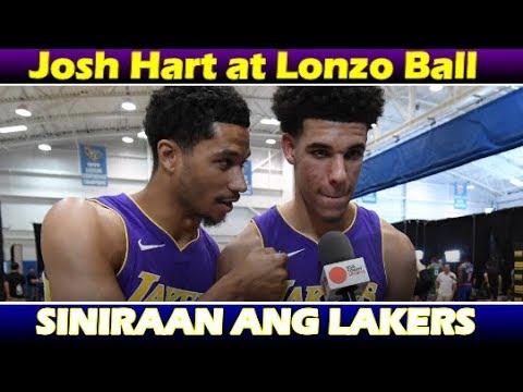 JOSH HART NAGLABAS NG SAMA NG LOOB | LONZO BALL AT JOSH HART SINIRAAN ANG LAKERS?