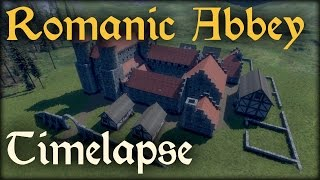 Epic Medieval Engineers Timelapse - Romanic Abbey
