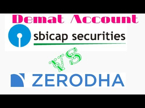 Zerodha Vs SBI Security Demat Account,Brokerage Charges,AMC Charges,Intraday Brokerage.