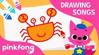 How to Draw a Crab | Drawing Songs with Pinkfong | Pinkfong Songs for Children