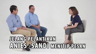 Video Jelang Pelantikan, Ini Pesan Anies-Sandi untuk Warga Jakarta (Part 1) download MP3, 3GP, MP4, WEBM, AVI, FLV Desember 2017