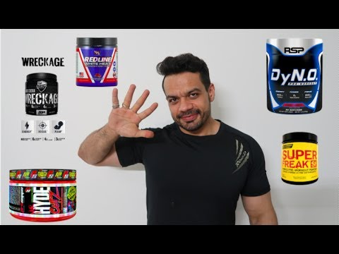 5 MOST INSANE PRE WORKOUTS IN THE MARKET