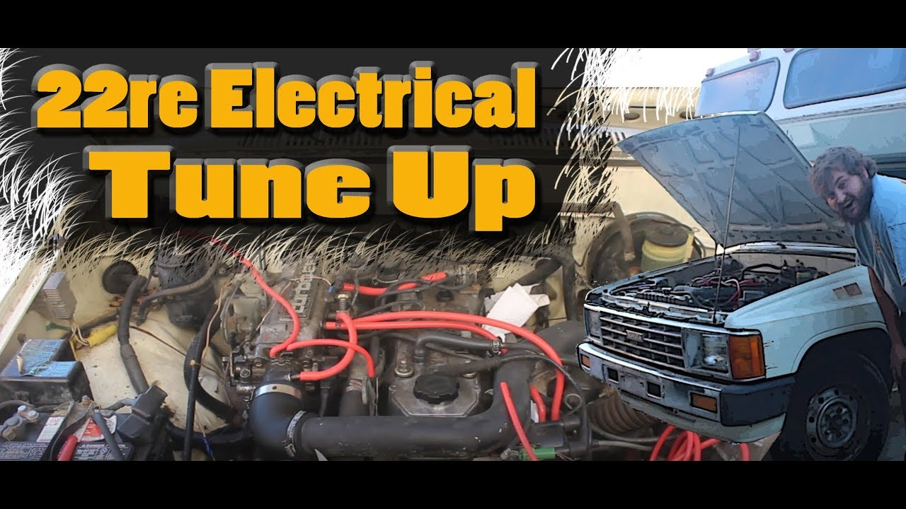 22re spark plugs wires rotor and disitributor cap install toyota sunrader episode 3 [ 1280 x 720 Pixel ]