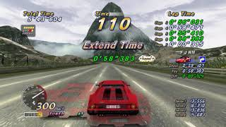 OutRun Online Arcade PS3 Gumball King 15 course continuous time attack trophy