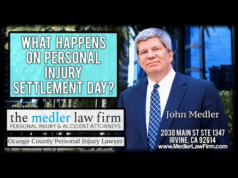 What Happens On Personal Injury Settlement Day?