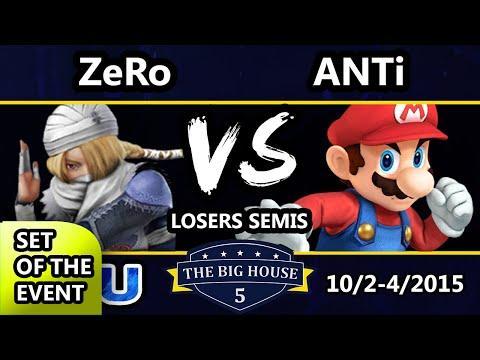The Big House 5 - ANTi (Wii Fit Trainer, Mario) Vs. ZeRo (Sheik) - Losers Semis - Smash Wii U