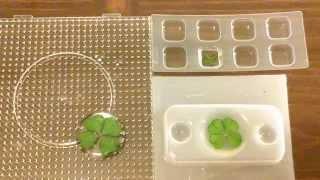 Resin Crafting:  Encasing Four-leaf Clovers
