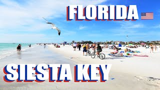 Siesta Key Beach Walking Tour - What is Sarasota Florida Like In January 2021?