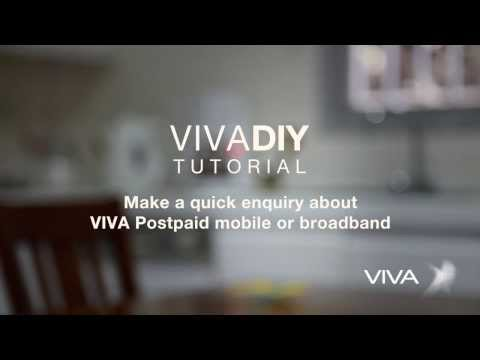 How to make a quick inquiry about VIVA postpaid mobile or broadband