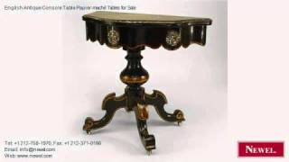 English Antique Console Table Papier-maché Tables For Sale