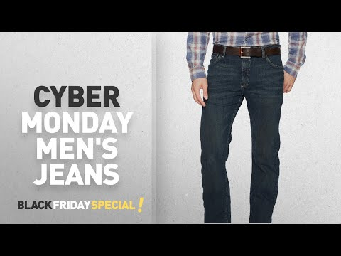 Cyber Monday Men's Straight Jeans Deals: Wrangler Men's Authentics Classic Straight Fit Jean