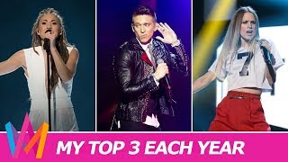 MELODIFESTIVALEN 2003-2018 | My Top 3 By Year