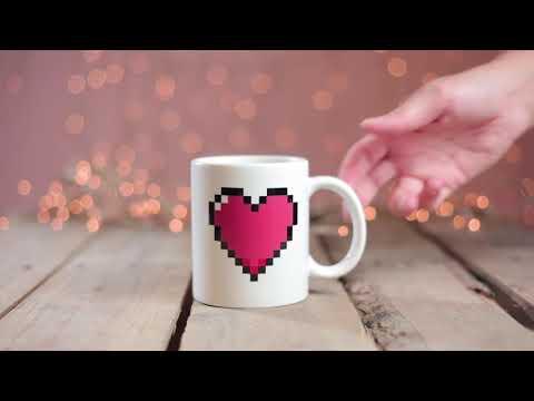 Warmtegevoelige mok Hart - Vul je mok met liefde