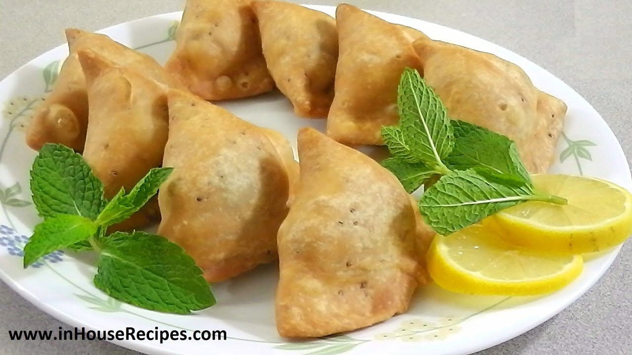 Samosa Recipe – Punjabi Aloo Samosa - inHouseRecipes - YouTube