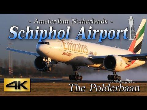 【4K】1H 65Airliner's!! Amazing Schiphol Airport-Ⅰ@Polderbaan