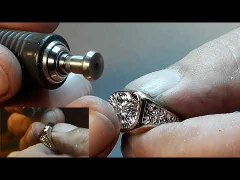 Как нанести алмазную грань на кольца  #УрокиЮвелира