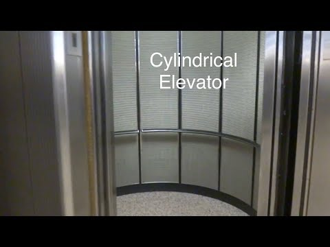 Interesting Cylindrical Hydraulic Parking Elevators at Pennzoil Place in Downtown Houston, TX.
