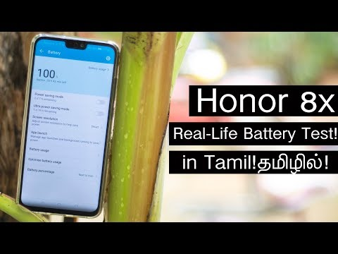 Slowest Charging! - Honor 8x Real Life Battery Test in Tamil!