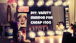 Diy Vanity Mirror- Cheap Only $100