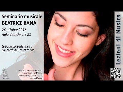 Seminario musicale Beatrice Rana - 24 ottobre 2016