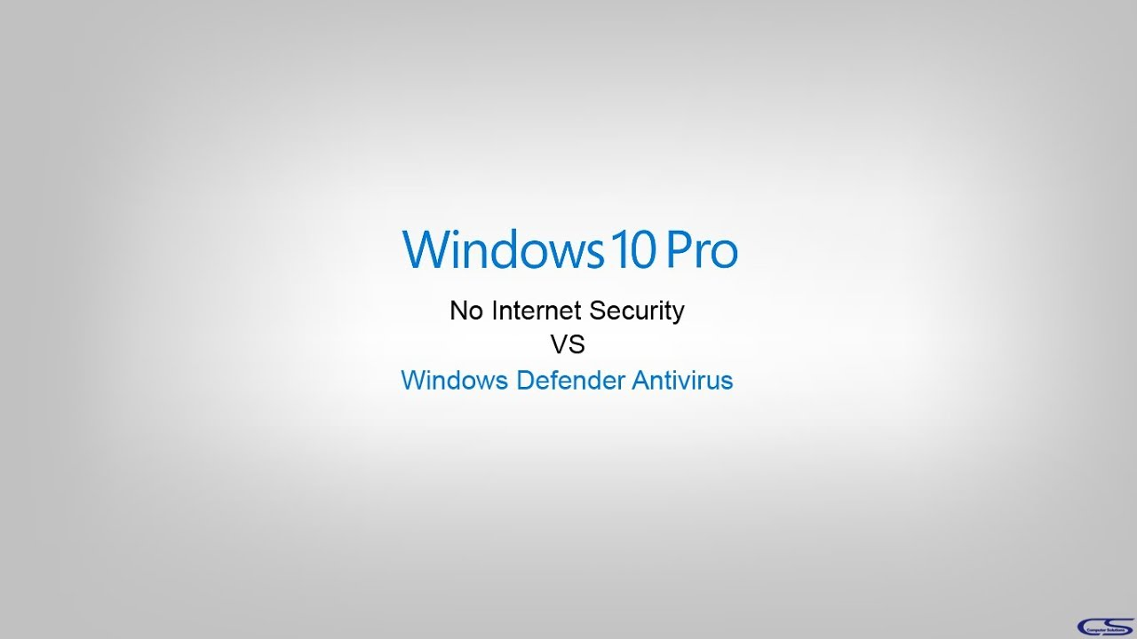 Performance Test - Windows Defender Antivirus