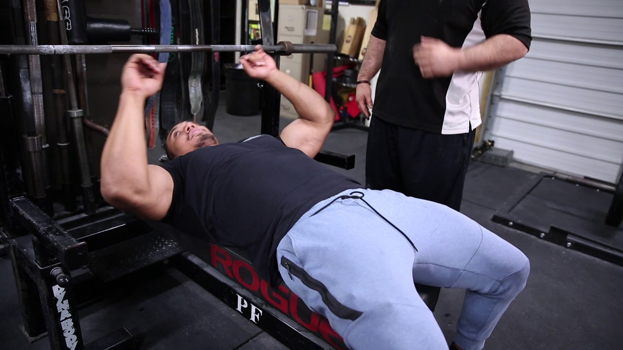 HOW TO BENCH With Larry Wheels and my coach Gaglionestrength