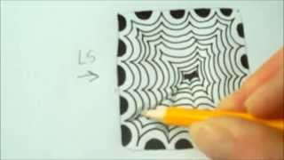 How to draw tanglepattern Crescent Moon