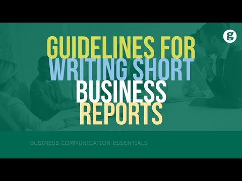 Guidelines For Writing Short Business Reports