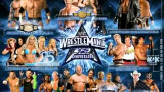WWE Wrestlemania 25 Theme (AC/DC - Shoot To Thrill {LIVE} )