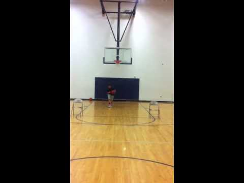 Attack the Rim Drill Tayven Glasgow 11 Years old 5'6 Power Forward