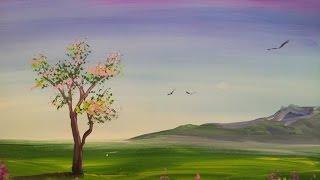Картина за 3 минуты! Как нарисовать дерево.(Как научиться рисовать дерево. Материалы, которые нужны для рисования этой картины: - гуашь, - кисти, - акваре..., 2015-01-14T13:19:55.000Z)