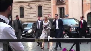 Ivanka Trump and Jared Kushner go out to eat in Rome