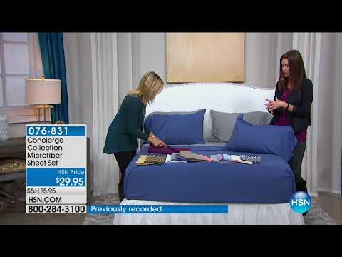 HSN | Concierge Collection Bedding 09.10.2017 - 07 PM