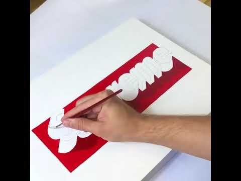 Supreme Logo 3d Art - YouTube