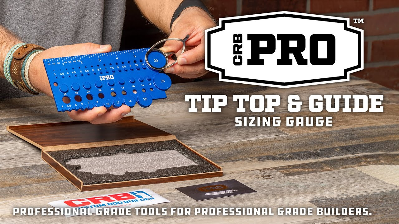 CRB PRO Tip Top & Guide Sizing Gauge for Building Custom Fishing Rods | Mud Hole Product Showcase